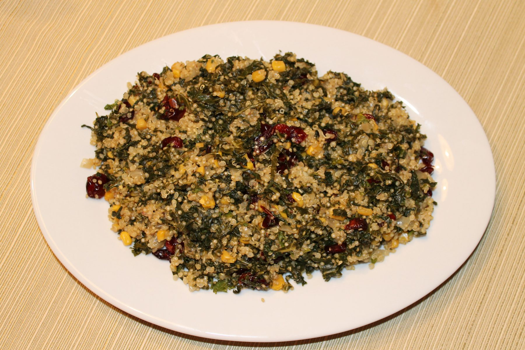 Vegan Recipe - Quinoa With Kale And Walnuts