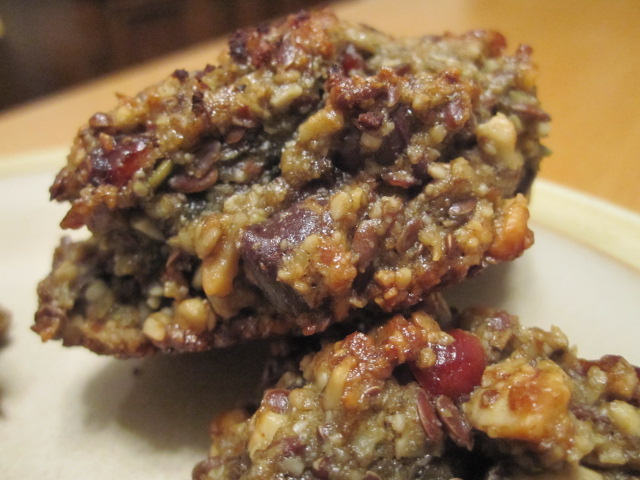Wheat-free Chocolate-Cranberry Cookies with Mixed Nuts