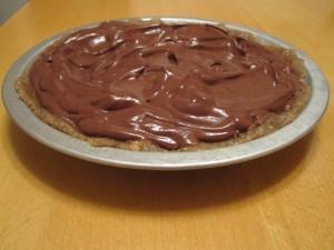 Dairy-free chocolate pie