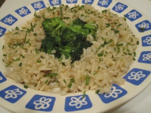 saffron rice with fresh chives