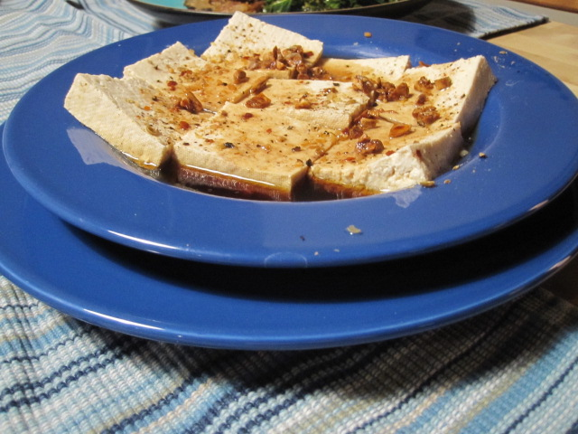 Baked Tofu (with Sesame Seeds)