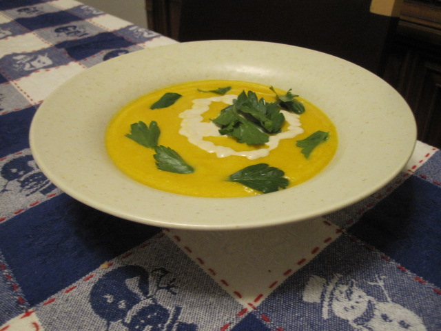 Roasted Squash Soup with Nut Cream