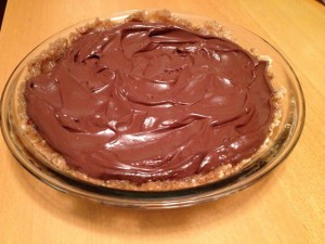"Vegan Recipe - Dairy-Free Chocolate Pie with ""Live"" Macadamia Nut Crust"