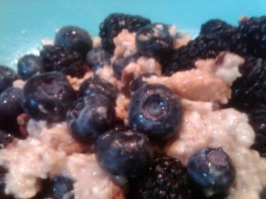 Vegan Recipe - Yummy Nutty Berries Oatmeal