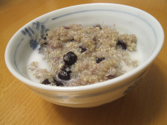 Blueberry Quinoa with Coconut Milk