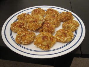 Vegan Recipe - Sago Fritters (Traditional Indian name: Sabudana Vada)