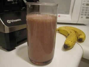 Vegan Recipe - Chocolate Banana Coconut Milk Smoothie
