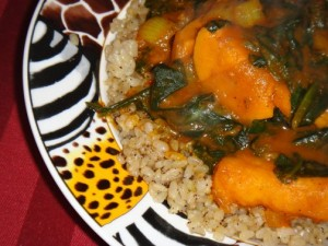 Vegan Recipe - Sweet Potato Spinach Curry