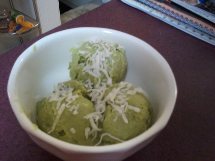 Avocado, Coconut & Lime Sorbet