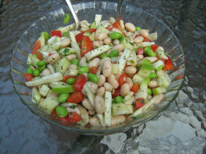 Vegan Recipe - Sweet Tart Bean Salad