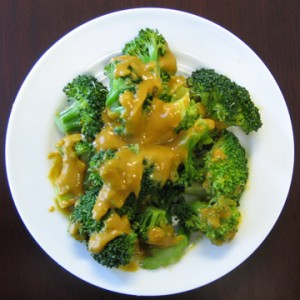 Vegan Recipe - Broccoli with Red Lentil Sauce