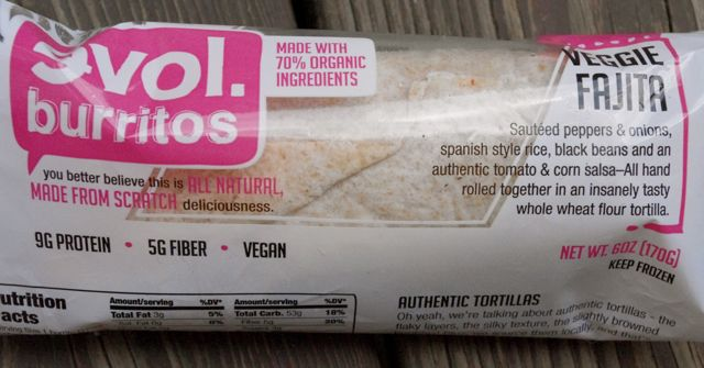 Accidentally Vegan: Veggie Fajita Frozen Burrito by Evol Foods!