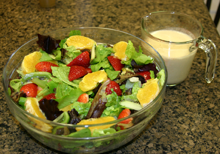 Vegan Recipe - Mismash Salad with Orange Cashew Dressing