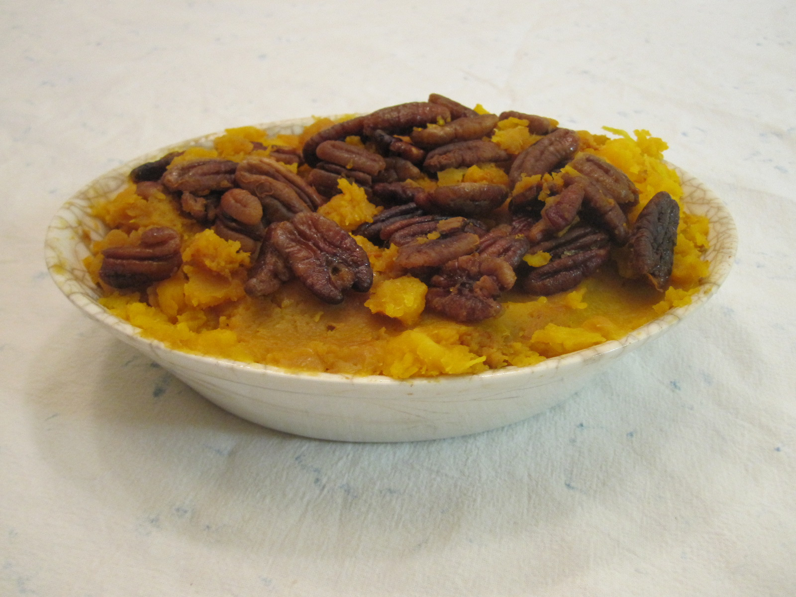 Vegan Recipe - Whipped Butternut Squash with Cloves and Pecans