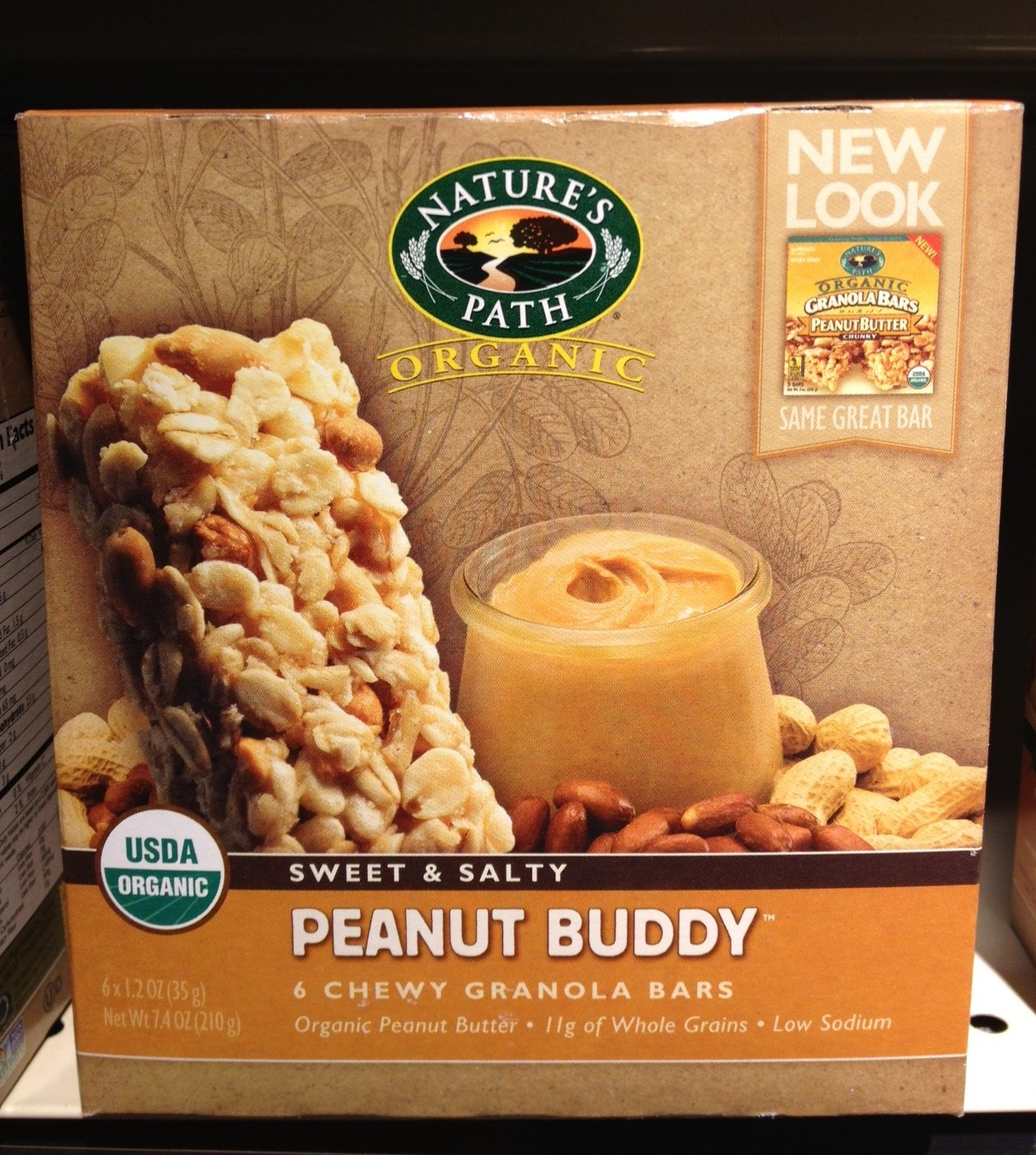 Accidentally Vegan: Peanut Buddy Chewy Granola Bars by Nature's Path!