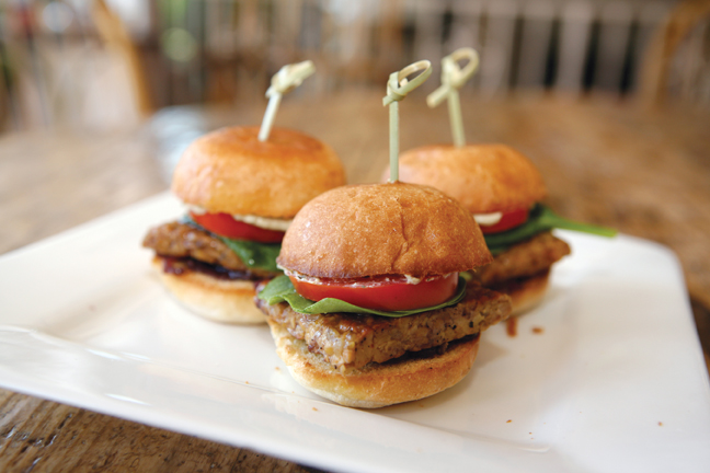 Bourbon Tempeh Sliders