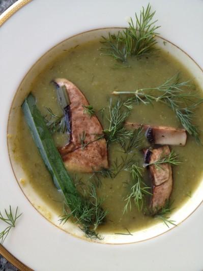 Vegan Recipe - Mushroom Leek Soup