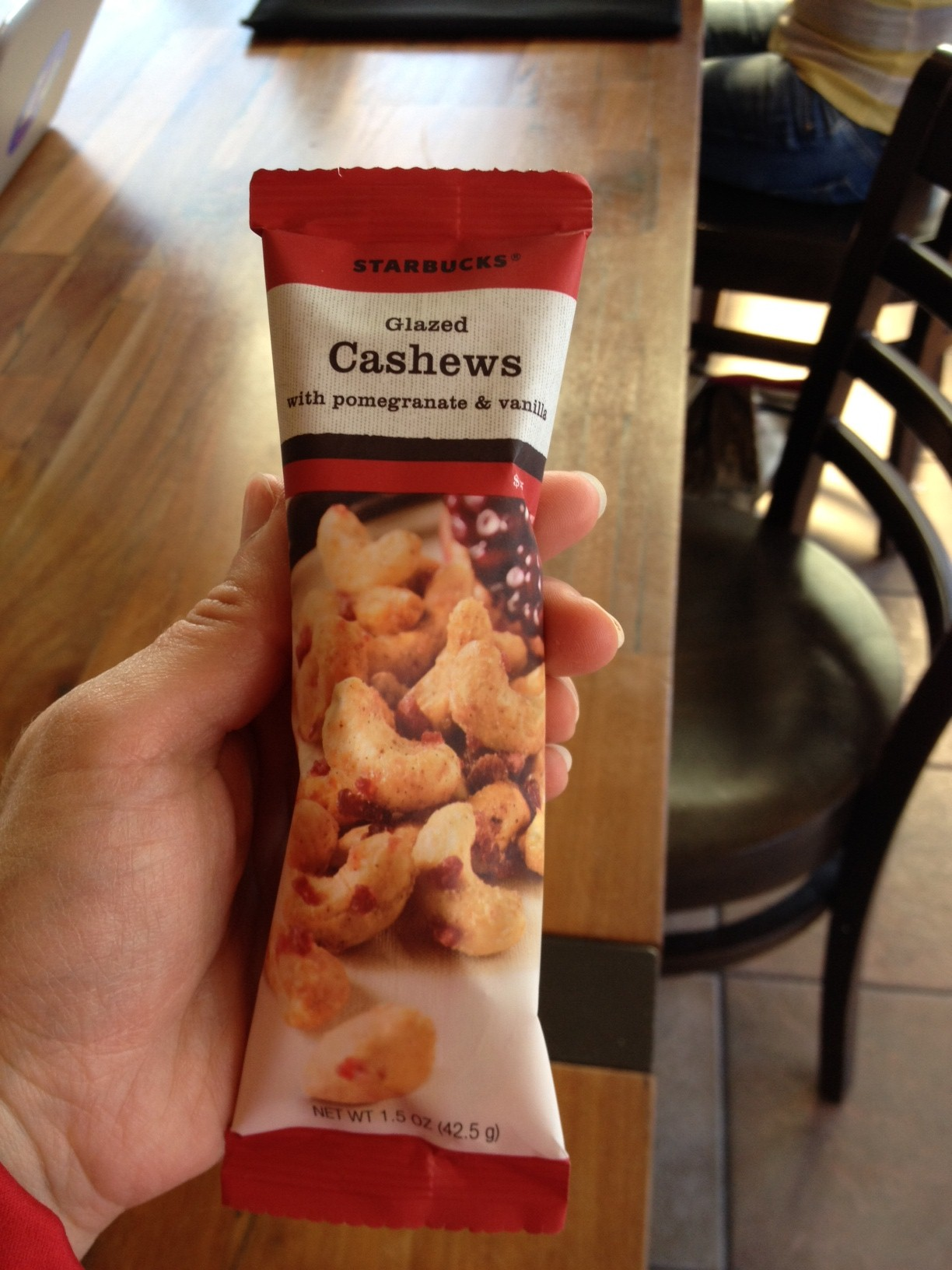 Accidentally Vegan: Glazed Cashews with Pomegranate and Vanilla from Starbucks!