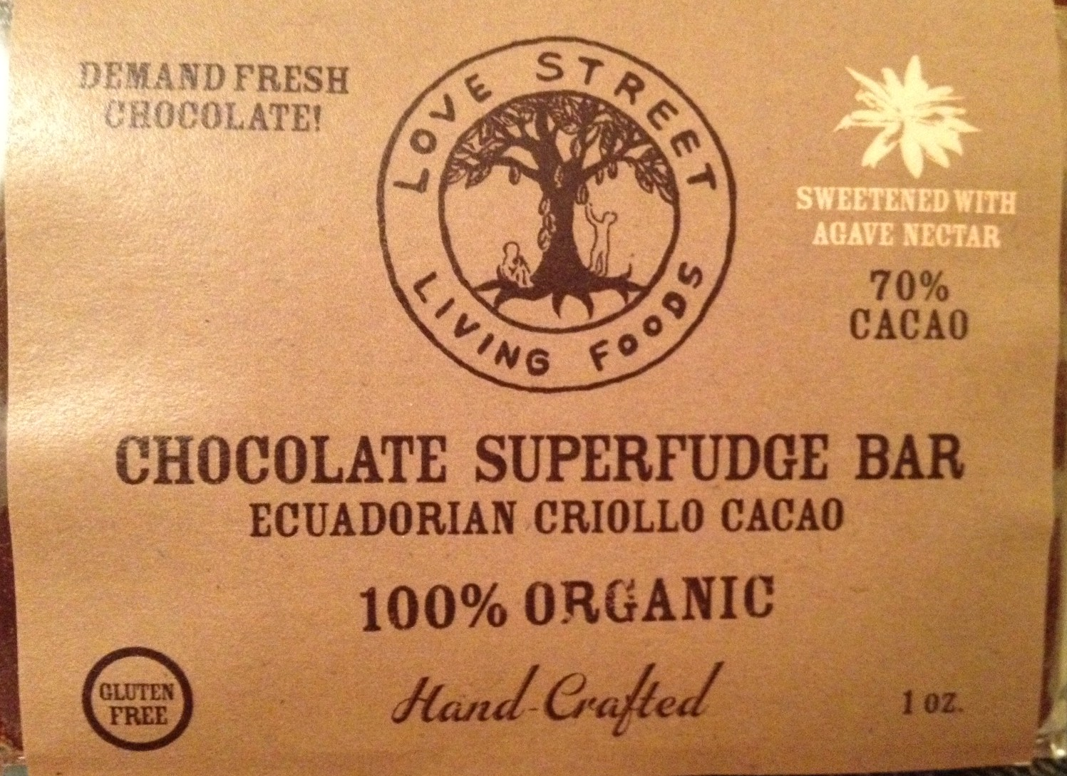 Love Street Living Foods Raw Chocolate Superfudge Bar Review