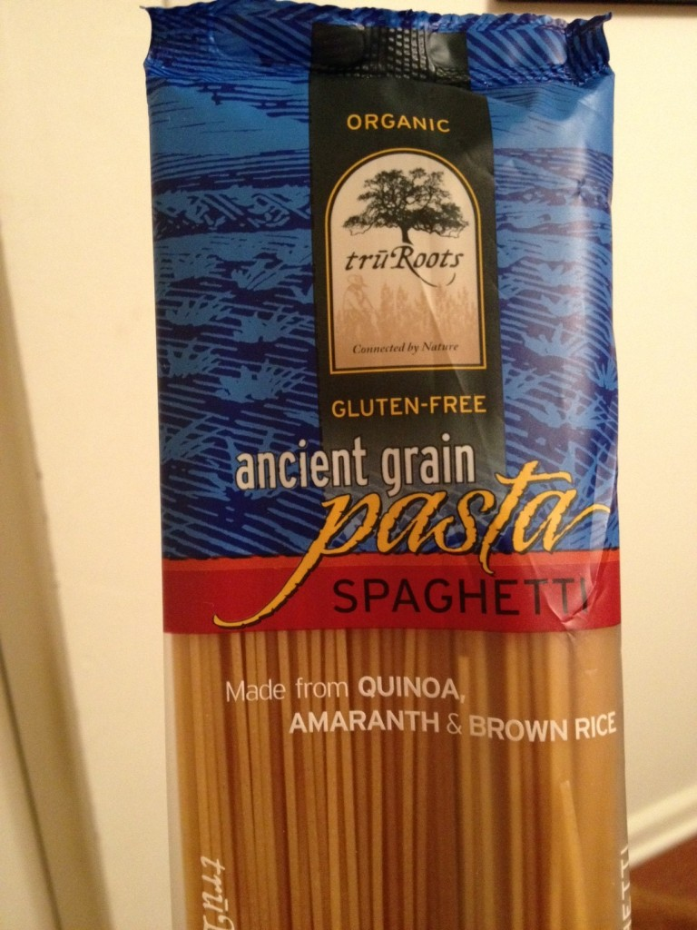 gluten free pasta: quinoa pasta with amaranth and brown rice