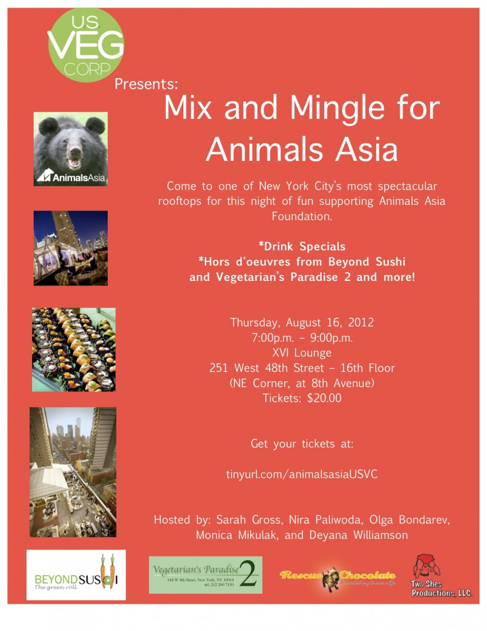 Rooftop Party – XVI Lounge  Mix & Mingle Animals for Asia