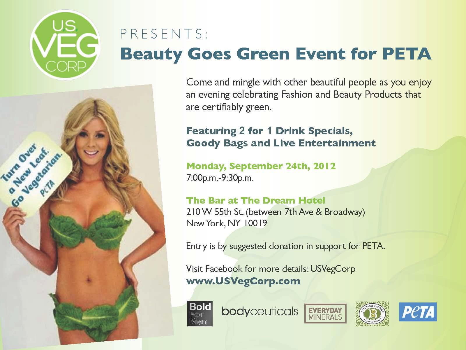 Beauty Goes Green Event for PETA