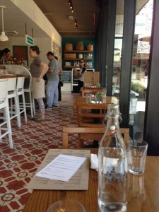 Inside the Larchmont location of Cafe Gratitude