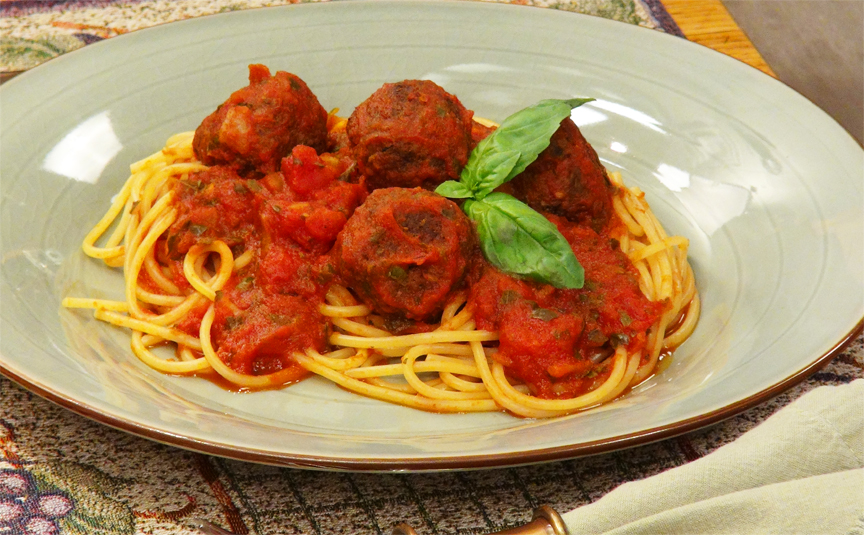 Vegan Recipe - Spaghetti and Wheatballs