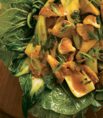 Oyster Mushroom and Baby Bok Choy Curry