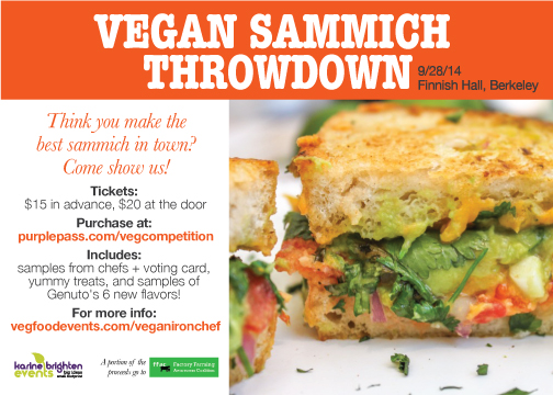 Vegan Sammich Throwdown in Berkeley, CA
