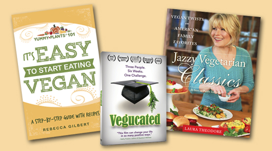 Win a copy of Vegucated, Jazzy Vegetarian Classics, and It's Easy to Start Eating Vegan!