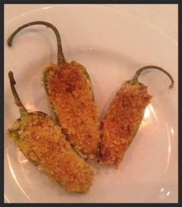 Vegan Recipe - Hummus Stuffed Baked Jalapeno Poppers