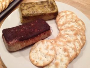 Avellana Creamery Curry (top) and Cinnamon (bottom) hazelnut-based cheeses.