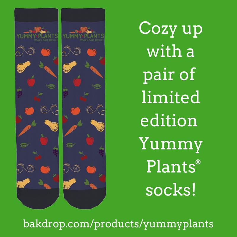 Veggie Message Socks: Explore a Plant-Based Life!