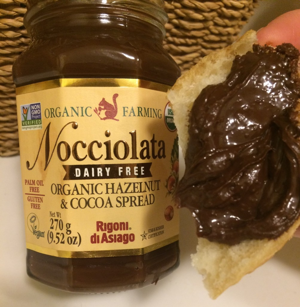 Vegan chocolate hazelnut spread nocciolata